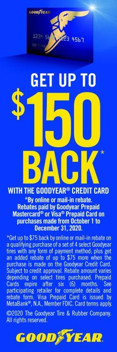 Tire Rebates - Goodyear Credit Card