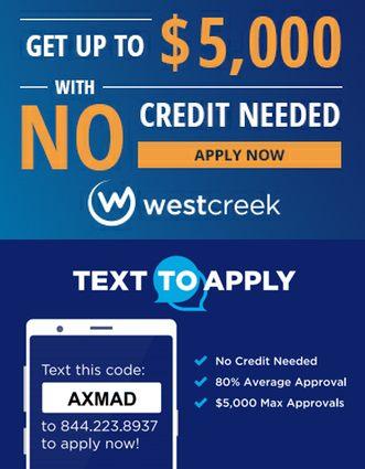 westcreek financing for auto repair