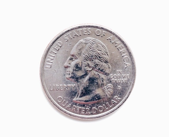 quarter dollar coin FUJM9TG 1